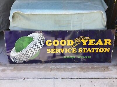 Goodyear Service Station with 'Balloon Tires and GREEN Globe logo!