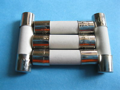 5 Slow Blow Ceramic Fuses T6.3AH250V 5mm x 20mm 6.3A  T6.3A  T6.3H250V