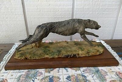 Signed & Dated by Griffiths Org. Sculpture Hunting Deerhound, Sep 1993, Britain.