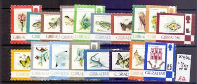 GIBRALTAR SG374-89a Plants and Animals Thematic Set Fine MNH