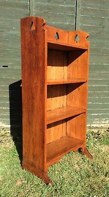 Lovely small Arts and Crafts oak bookcase possibly by Liberty & Co. Cambs area