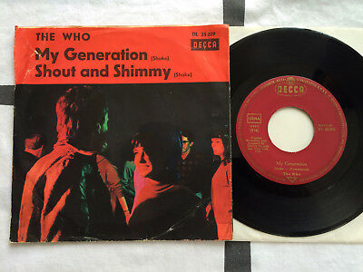 """7"""" Single - THE WHO - My Generation / Orig. DECCA DL 25 209 / D '65 / vg"""