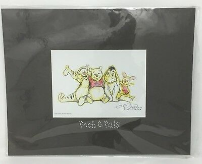 Disney, Swarovski Winnie the Pooh & Pals Matted Lithograph By Dave Pacheco