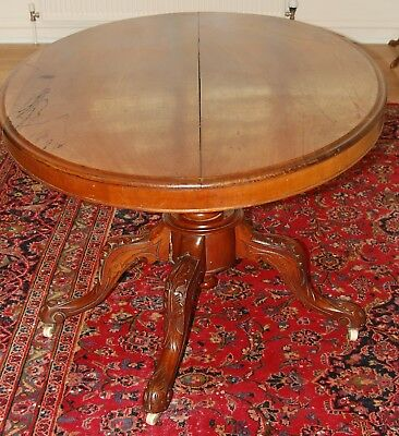 Victorian Oval Tilt Table In Need of  TLC. Beautiful Mahogany.