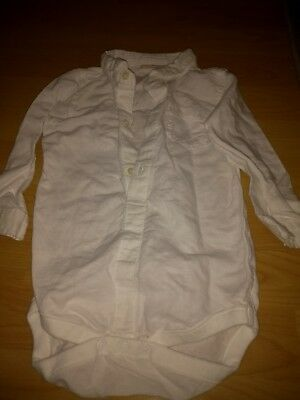 Next white shirt with poppers size 12-18
