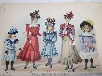 THE DELINEATOR  October 1896 Stylish Millinery & Dressy Frocks 2  Advertisements