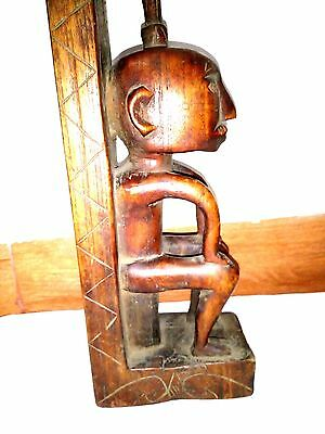 Vintage Nias Wall Plaque of Guardian Figure