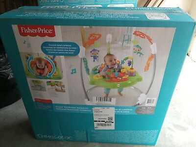 Fisher-Price Roaring Rainforest Jumperoo Baby Bouncer Music Activity Centre