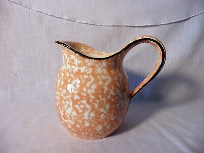 Rare Stangl Orange Town & Country Pitcher Sponge Ware 1970's