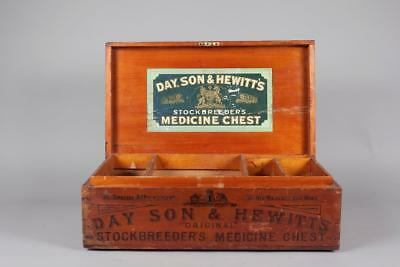 "Vintage c1910 ~  ""Day,Son & Hewitt's"" ""Original Stockbreeders Medicine Chest"""