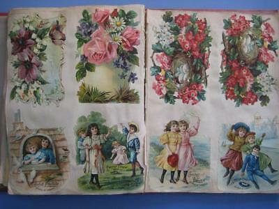1890's Antique French Victorian Scrapbook : Die Cuts ~ Mahler Dogs ~ Chocolate