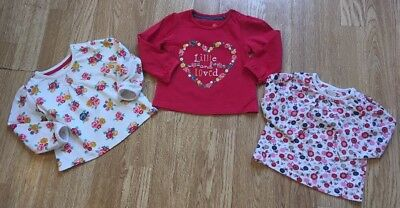 Tu Baby Girls Floral Long Sleeved Tops 3-6 Months