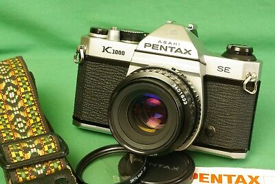 PENTAX K1000 SE 35mm Film Camera w/ SMC-A 50mm f/2.0 lens Student Beginner