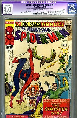 Amazing Spider-Man Annual #1 CGC GRADED 4.0 - first Sinister Six - Canadian Ed.