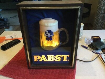 Vintage Pabst Bubbling Beer Sign