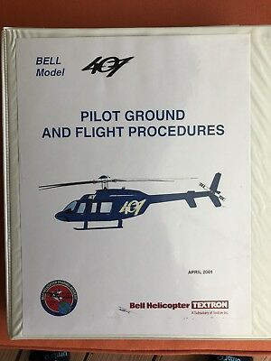 Manual Bell Model 407~Pilot Ground Flight Procedures Helicopters Textron