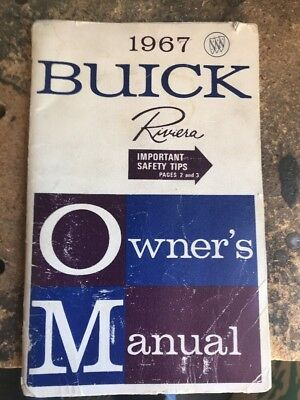 1967 Buick Riviera Owner's Manual