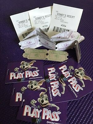 Chuck E Cheese 1,032 Tickets And Play Pass 50 Points