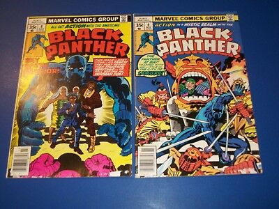 Black Panther #6,8 Bronze age lot of 2 Lower grade