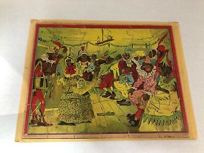 Black Americana 1894 Parker Brothers Puzzle The Dark Town Fancy Ball