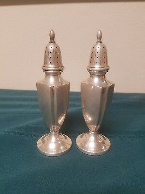 Antique FISHER Sterling Silver Classy Elegant SALT & PEPPER SHAKERS not weighted