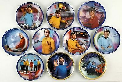 The Hamilton Collection Star Trek Plates *Lot of 10*