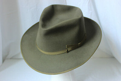 "BEAUTIFUL Vintage 50's MALLORY ARISTOCRAT QUALITY ""THE DALLAS"", Gray-Green 7 1/8"
