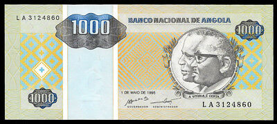 World Paper Money - Angola 1000 Kwanzas 1995 P135 @ Crisp UNC
