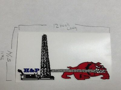 Oilfield Decal Large Sticker H & P Oklahoma  Drilling Gas Field Oil Hardhat