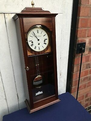 Knight And Gibbins Quarter Chiming Westminster Wall Clock, Superb Quality