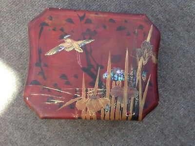 Lacquered box, a gift from Joseph Chamberlain, Mayor of Birmingham