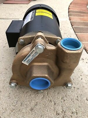 New Centrifugal 2 HP Electric Water Pump c/w All Bronze construction.