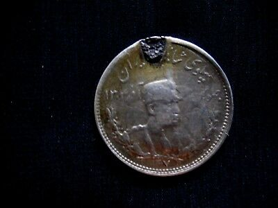 Iran Persia Reza Shah 1000 Dinar Silver Coin For Charm Ad 1307 Middle Eastern