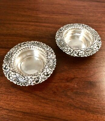 American Two Sterling Silver Master Salts: Shell Pattern, No Monograms