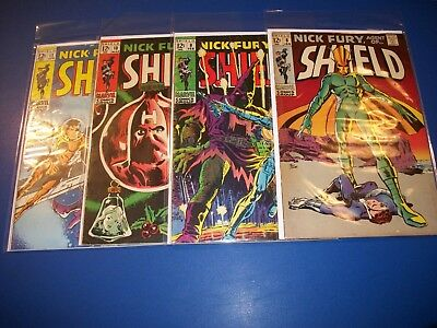 Nick Fury Agent of Shield #8,9,10,11 Silver age run of 4