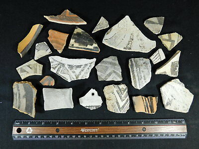 A Big Lot of Anasazi Pottery Shards or Sherds Found in Northeast Arizona! 344gr