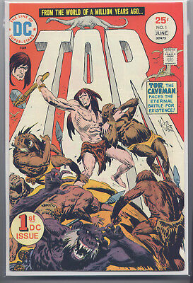 Tor #1 (Jun 1975) DC, Nice 1st Issue, Joe Kubert, Bag & Boarded, See the Scans