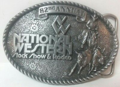 NATIONAL WESTERN STOCK SHOW & RODEO BELT BUCKLE 1988 limited ED