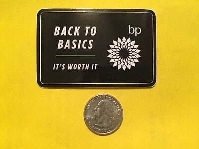 Bp Back To Basics 2018 Black Gas Field Oil Drilling Hardhat Oilwell Decal Usa