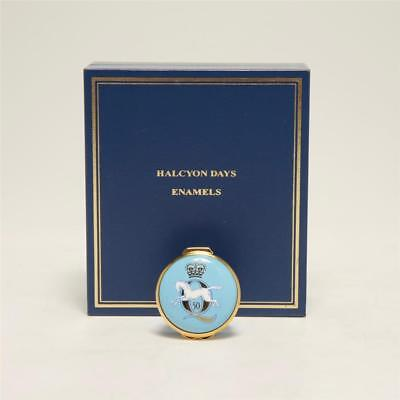 """Halcyon Days Round Enamel Box, """"all The Queen's Horses"""" Golden Jubilee, 2002"""