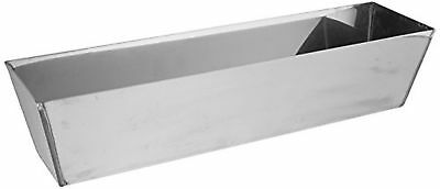 Kraft Tool DW714 Heli-Arc Mud Pan, 14-Inch, Stainless Steel