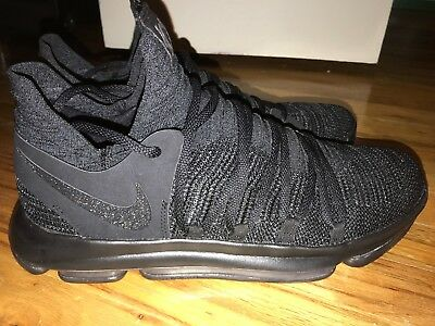 watch 0f9db ba2f0 NIKE ZOOM AIR KD X 10 Triple Black Kevin Durant Shoes 897815-004 Size 13