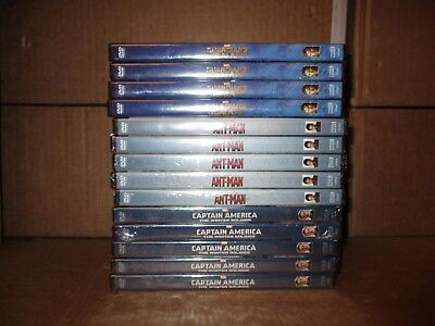 Lot Of 14 Brand New Marvel DVDs Movies Ant-Man,Guardians Galaxy,Captain America