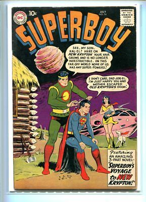 Superboy #74 Solid Grade Great Imaginary Cover