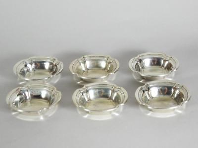 6 Whiting Sterling Silver Nut Dishes