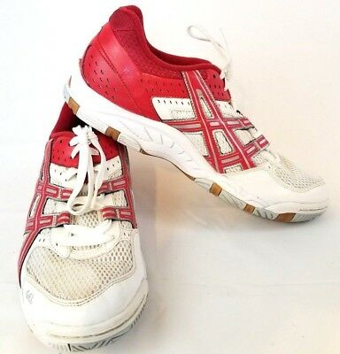 Men's Asics Gel Rocket Athletic Shoes Sneakers Red White Silver US 12 44.5 Z815