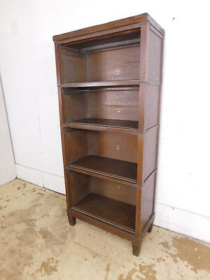 REDUCED!! Antique 3/4 Macey Stacking Barrister Open Oak Bookcase Lawyers Mission