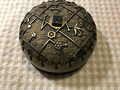 Victorian Cast Iron and Brass Door Bell pat. date July 4, 1875