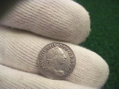 1762 Three Pence Maundy Money George The 3rd Silver