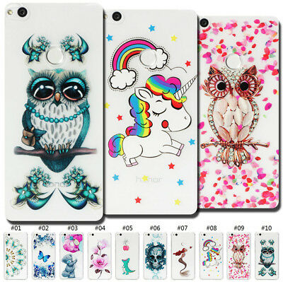 Clear Soft Silicone Gel Back Painted Skin Slim Fashion TPU Case Cover For Huawei
